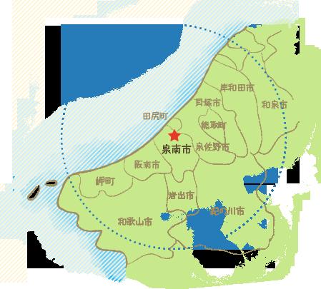 訪問診療エリアマップ